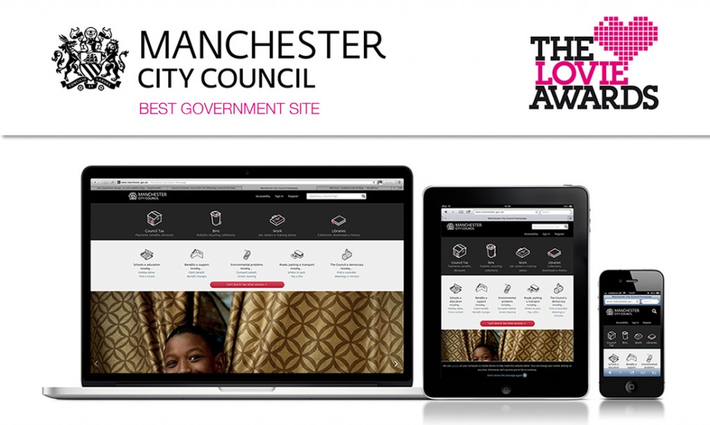 Manchester City Council wins Prestigious Lovie Award for Best Government Site following research by Keep It Usable
