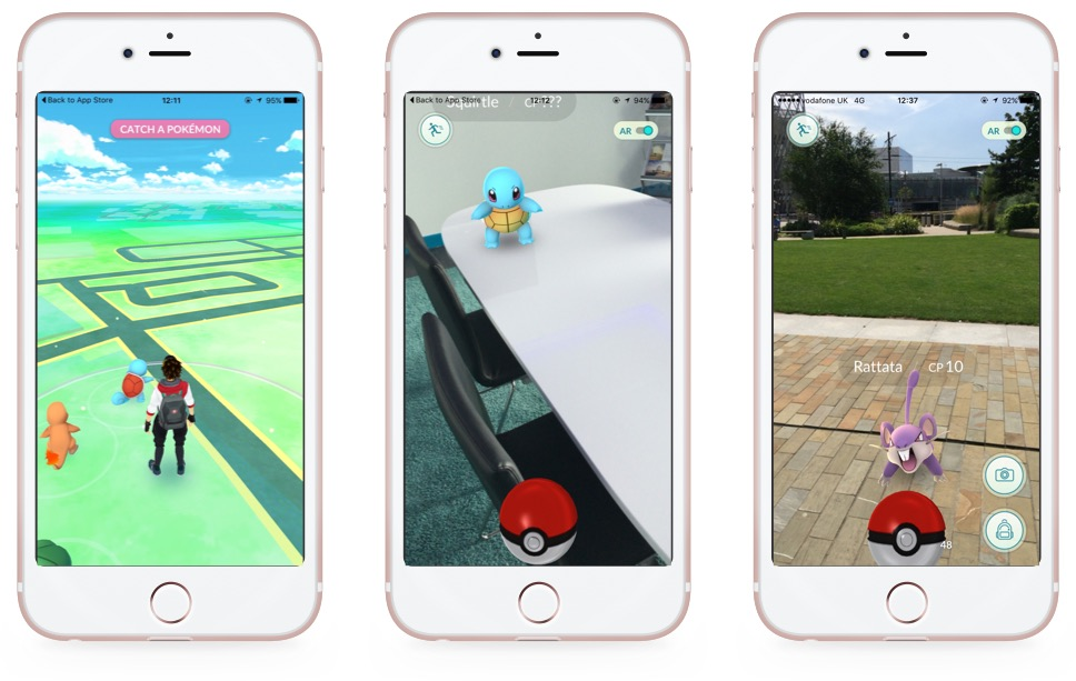 Pokemon Mobile App Screens