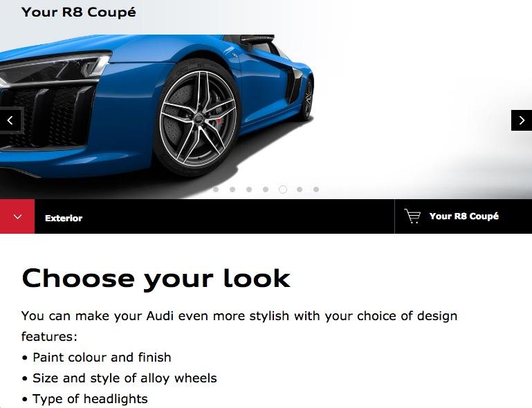 Audi R8 personalisation