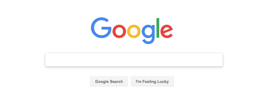 The simplicity of google search